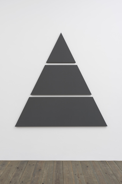 Alan Charlton, 'Triangle Painting in 3 parts', 2015, Slewe Gallery
