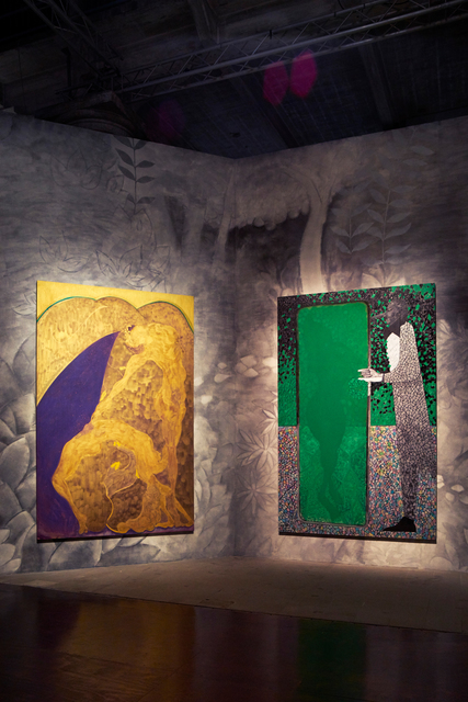 ", '""Bending Over Backwards for Justice and Peace"" and ""The Greeen Mirror"" (Installation view),' 2015, 56th Venice Biennale"