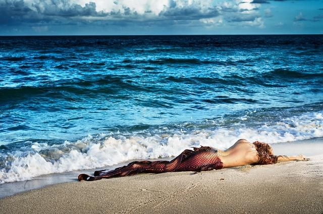 David Drebin, 'Mermaid In Paradise I', 2014, Isabella Garrucho Fine Art