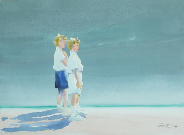 , 'Beach Scene III,' 1980-1990, Galerie Bettina