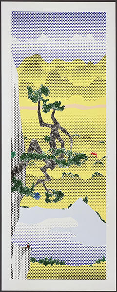 Roy Lichtenstein, 'Landscape with Poet', 1996, Print, 16-color lithograph and screenprint, Talley Dunn Gallery