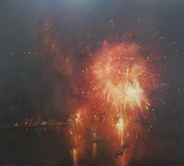 Benjamin Warner, 'New Years Eve, Fireworks, Hong Kong Harbour', 2017, Tanya Baxter Contemporary