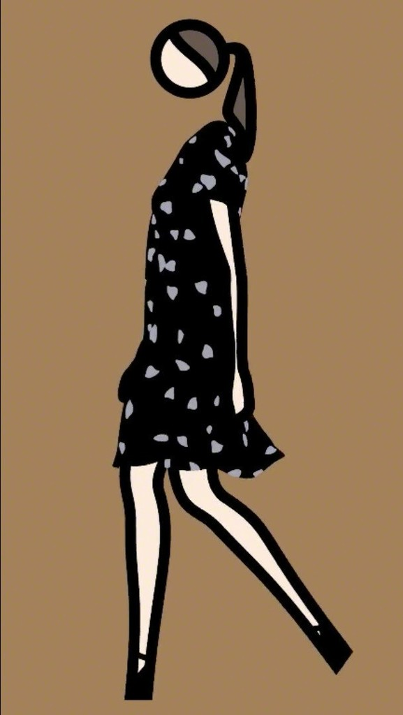 Julian Opie, 'Verity walking in dress 3.,' 2013, Galerie Bob van Orsouw
