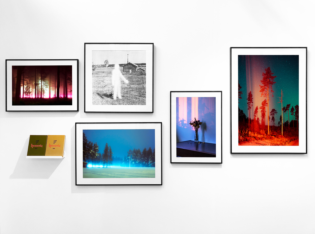 A selection of works from Maria Lax's Some Kind of Heavenly Fire series, with sold out first edition books