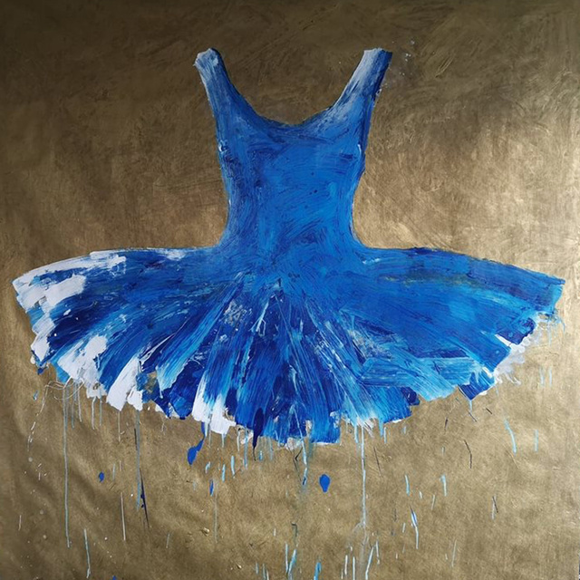 , 'Blue Dress,' 2018, Galleria Ca' d'Oro