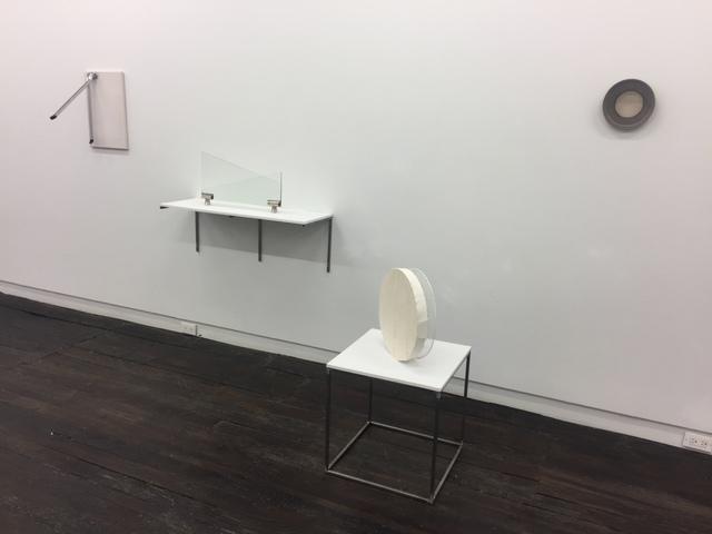 ", 'Installation view of Isvan Ist Hujan's ensemble in ""Loin Avec Moi"",' 2017, LMAKgallery"