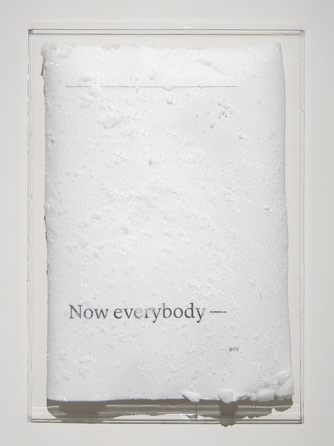 , 'Now everybody -,' 2016, Blindspot Gallery