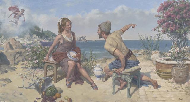 , 'Odysseus on Ogygia,' 2016, The Scottish Gallery
