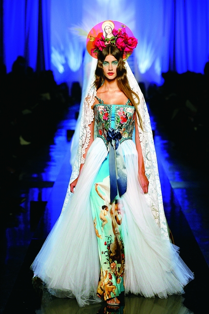 ", '""Apparitions"" gown from Jean Paul Gaultier's ""Virgins (or Madonnas)"" women's haute couture spring-summer collection of 2007,' 2007, Brooklyn Museum"