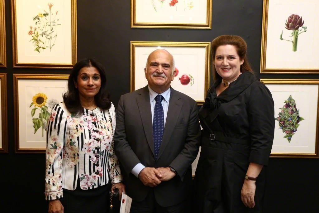 HH Princess Sarvath al-Hassan, HRH Prince Hassan bin Talal, Artist Heidi Venamore