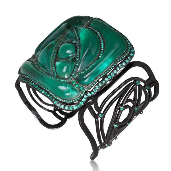 William Ehrlich, 'Square Rose Bracelet (Green) ', Jason Jacques Gallery