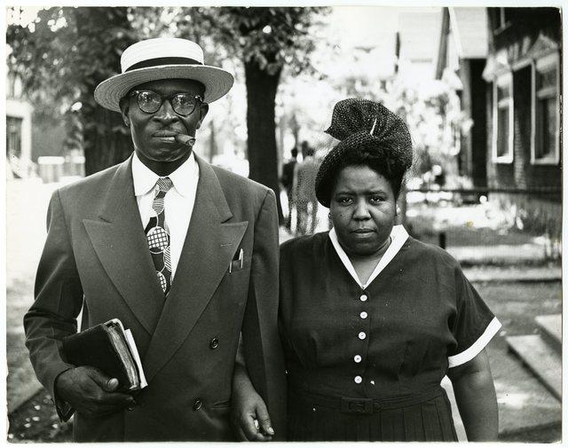 , 'Husband and Wife, Sunday Morning, Detroit, Michigan,' 1950, Howard Greenberg Gallery