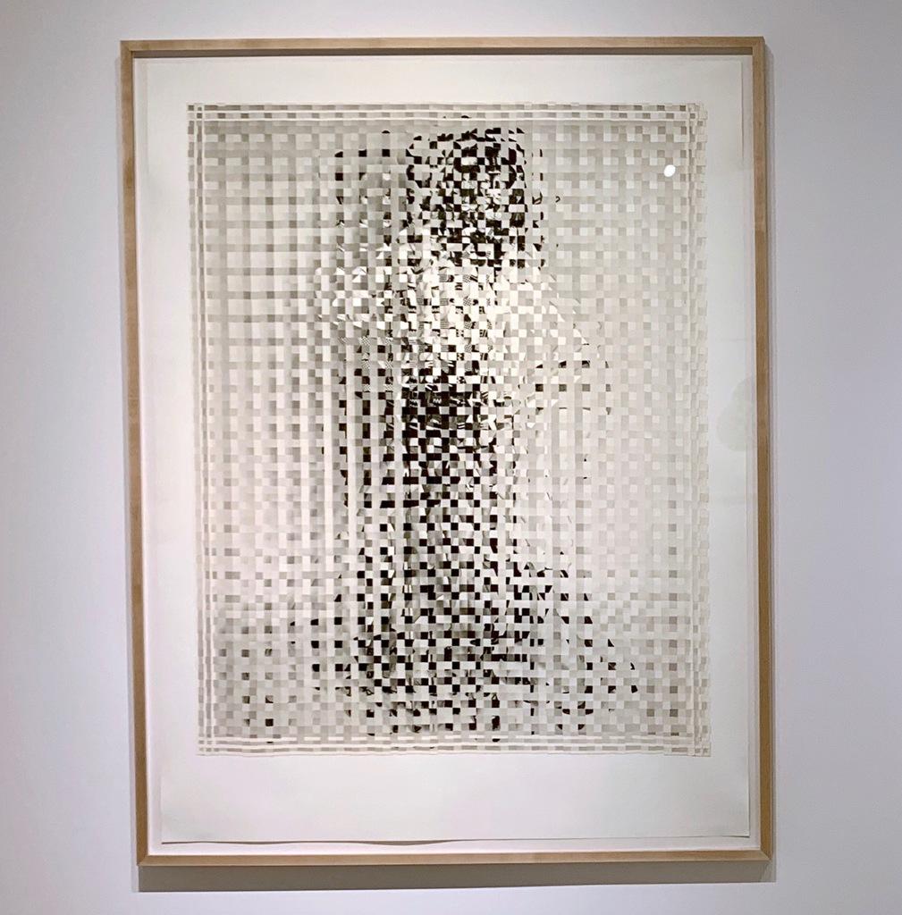Joe Rudko's cut found photographs on paper at Von Lintel Gallery, Los Angeles