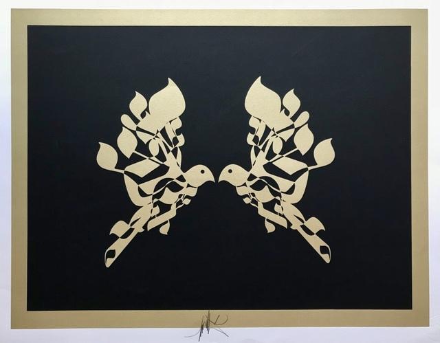, 'Colombes dorées,' ca. 1980, ByNewArt