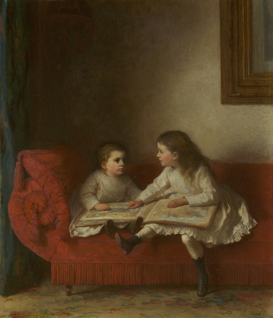 Eastman Johnson, 'The Lesson ', 1874, Debra Force Fine Art