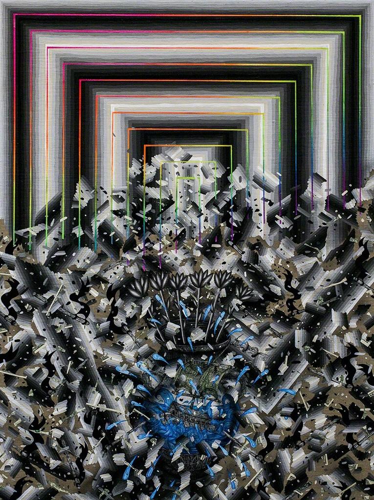 Andrew Schoultz, 'Vessel in Chaos (Broken Order),' 2014, Hosfelt Gallery