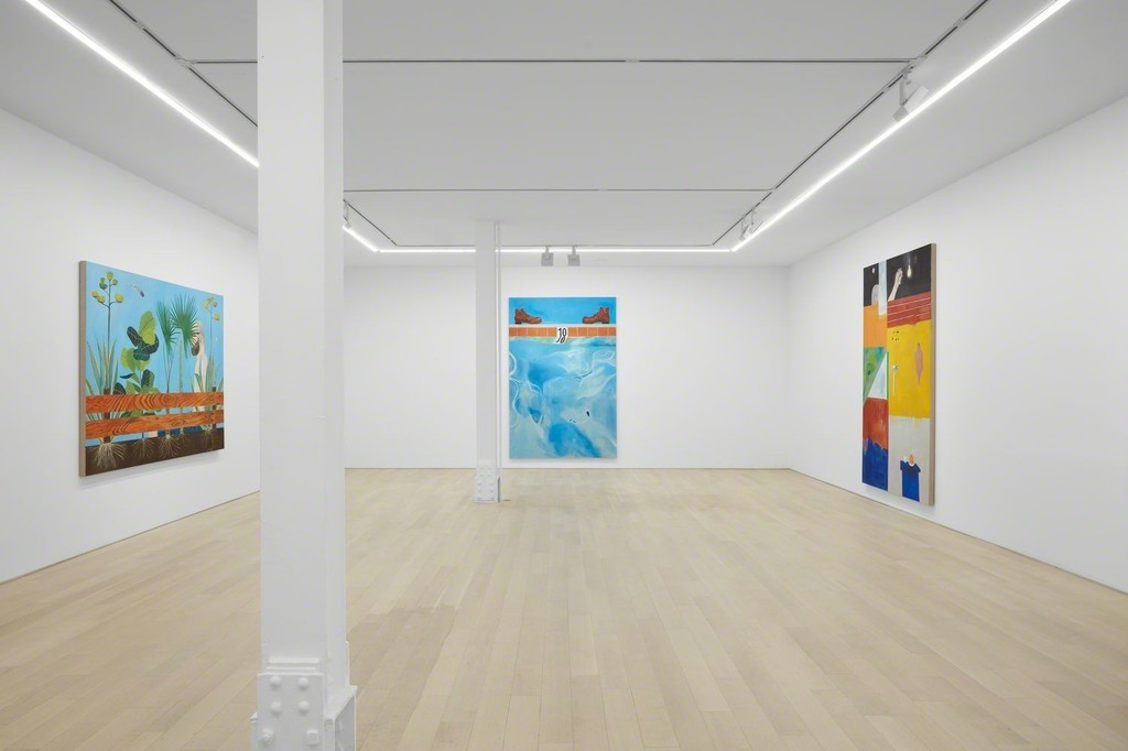 Installation view of current exhibition Michael Hilsman: Pictures of 'M.' and Other Pictures. © Michael Hilsman - Courtesy of the Artist and Almine Rech - Photo: Matthew Kroening.