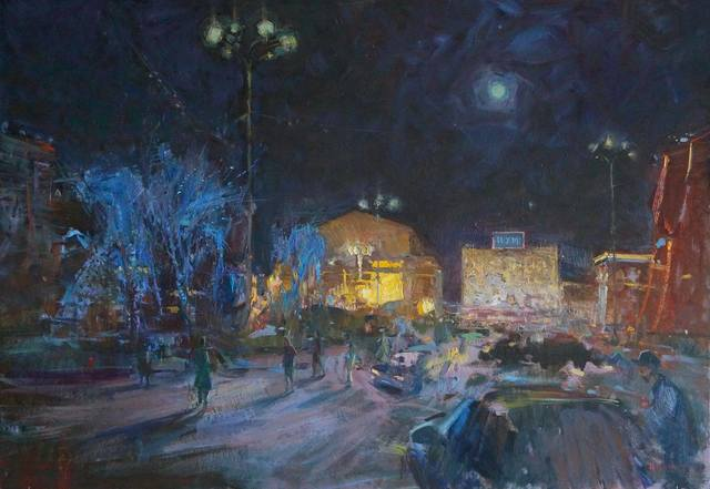 , 'Fool Moon. Teatralnaya Square,' 2016, Abode