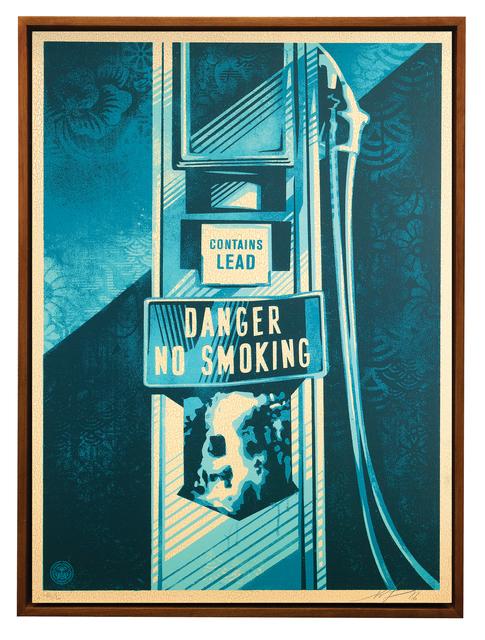 Shepard Fairey, 'Danger No Smoking', 2016, Print, Silkscreen on Wood Panel, Galerie Ernst Hilger