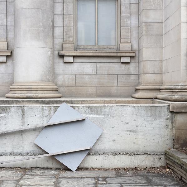, 'Construction Sign and Club Monaco Building,' 2018, Bau-Xi Gallery