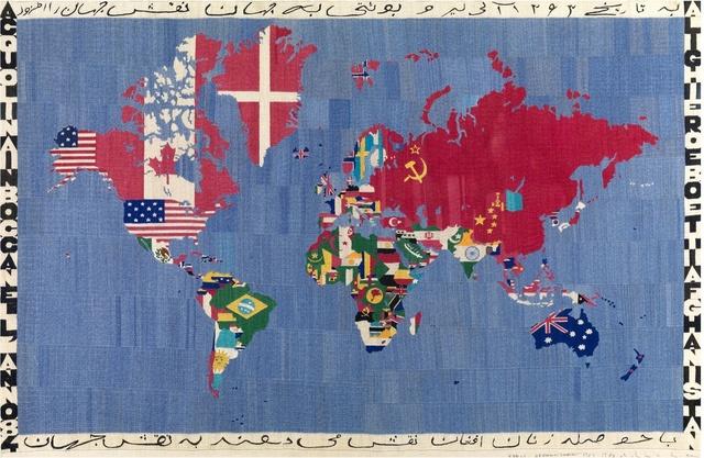 , 'Mappa acquolina in bocca dell'anno 84 Alighiero e Boetti Afghanistan,' 1983-1984, Tornabuoni Art