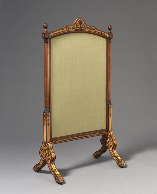 , 'Fire Screen,' English circa 1867-70, H. Blairman & Sons Ltd