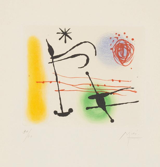 Joan Miró, 'Suite La Bague d'aurore (The Ring of Dawn Suite): one plate', 1957, Phillips
