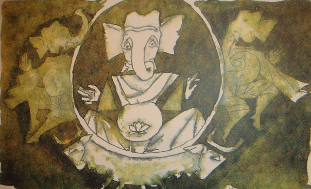 M. F. Husain, 'Untitled ', Edition: Ap, Painting, Serigraph On Paper, Arushi Arts