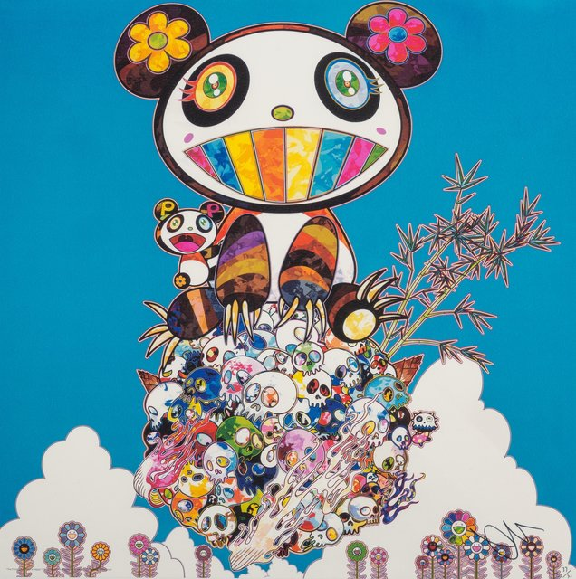 Takashi Murakami, 'The Pandas Say They're Happy', 2014, Print, Offset lithograph in colors on paper, Heritage Auctions