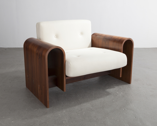 Oscar Niemeyer, 'Lounge chair for the SESC hotel, 1990', 2007, Design/Decorative Art, Imbuia Wood, leather upholstery, R & Company