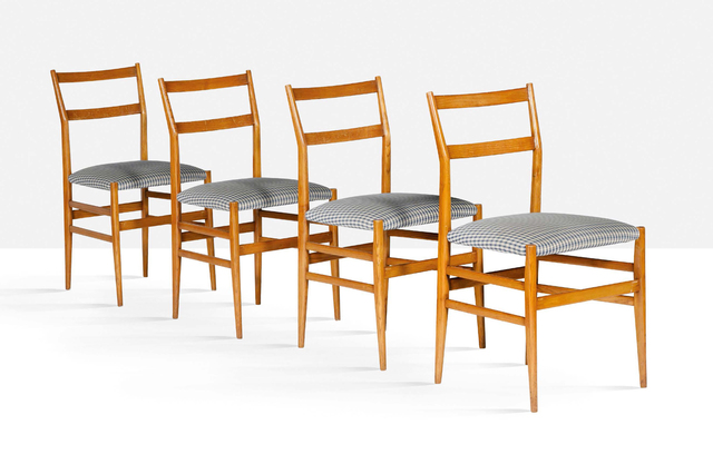 Gio Ponti, 'Set of 4 Leggera chairs', 1952, Aguttes