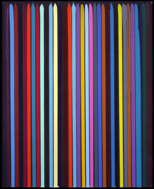 Ian Davenport, 'Poured Lines: Studio Black, No.1', 2006, Waddington Custot