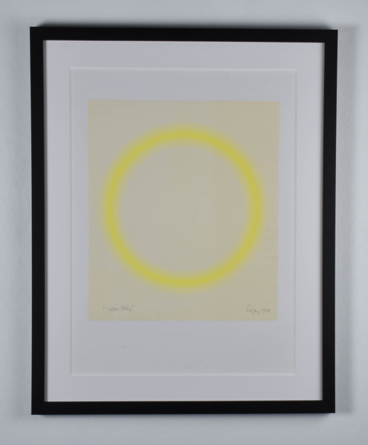 Peter Sedgley, 'Yellow Study', 1968, Drawing, Collage or other Work on Paper, Acrylic on paper, RCM Galerie