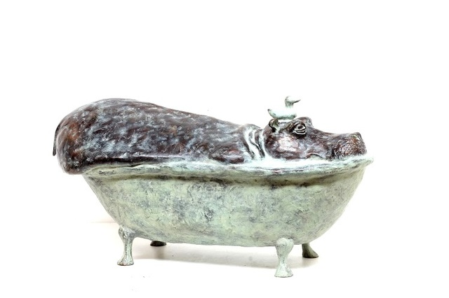 , 'Hippo in Bath,' 2019, Smelik & Stokking Galleries