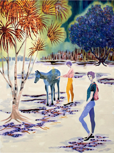 Freya Douglas-Morris, 'The spellbound horse in his field of white sand', 2018, Lychee One