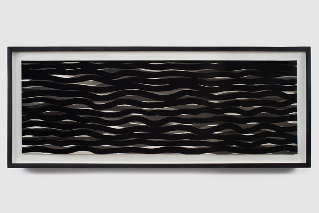, 'Untitled (Gray, White and Black Wavy Lines),' 2004, Antoine Helwaser Gallery