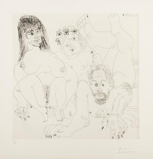 Pablo Picasso, 'Couple Aux Champ, Avec un putto couronne de Fleurs (Bloch 1697)', 1968, Forum Auctions