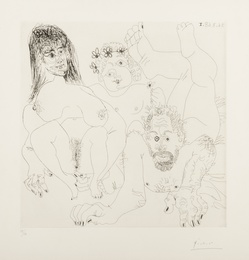 Pablo Picasso, 'Couple Aux Champ, Avec un putto couronne de Fleurs (Bloch 1697),' 1968, Forum Auctions: Editions and Works on Paper (March 2017)