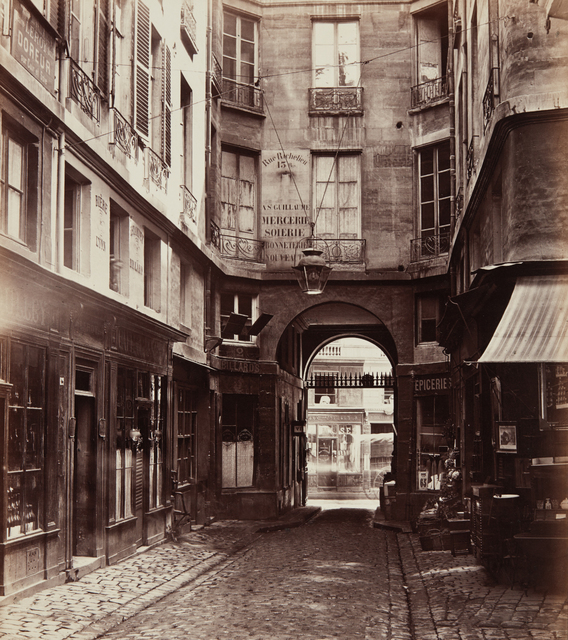 Charles Marville, 'Passage Saint-Guillaume vers la rue Richelieu', 1863, 1865, printed 1871, 1879, Phillips