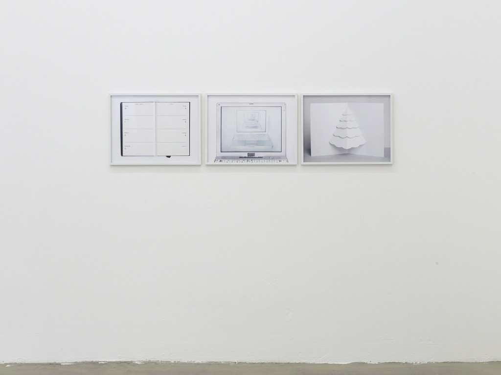 infinity cluster, 2014, digital c-print, 53,5 x 41,5 cm; 53,5 x 41,5 cm; 53,5 x 41,5 cm, exhibition view at Klemm's, Berlin 2014