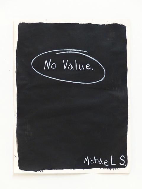 , 'No Value,' 2014, Charlie Smith London