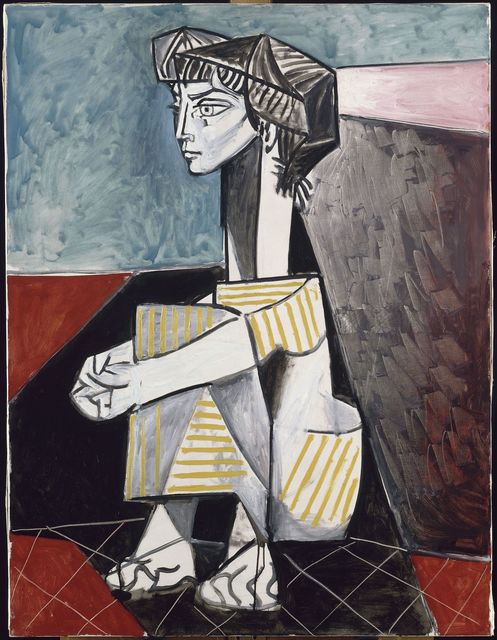 Pablo Picasso, 'Jacqueline aux mains croisés (Jacqueline With Crossed Hands)', 1954, Painting, Oil on canvas, Musée Picasso Paris