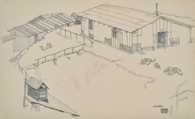 , 'Work Shed in Hilly Terrain,' 1915, Galerie St. Etienne