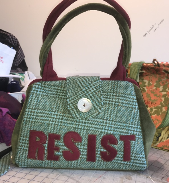 Jenae Michelle, 'Resist 2', 2017, Textile Arts, Fiber Art, Wool and Velvet Handbag with Vintage Fabric, Zenith Gallery
