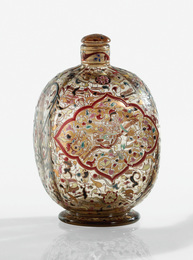 "Emile Gallé, '""Cavalier Persan"" Covered Bottle,' circa 1884, Sotheby's: Important Design"