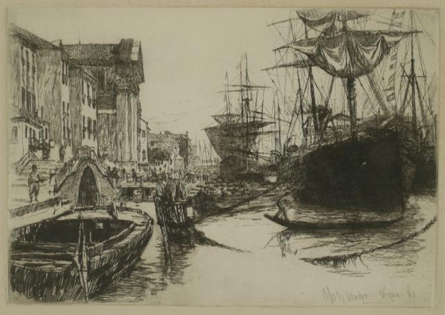 Otto Henry Bacher, 'Zattere, Venice', 1880, Print, Etching, Private Collection, NY