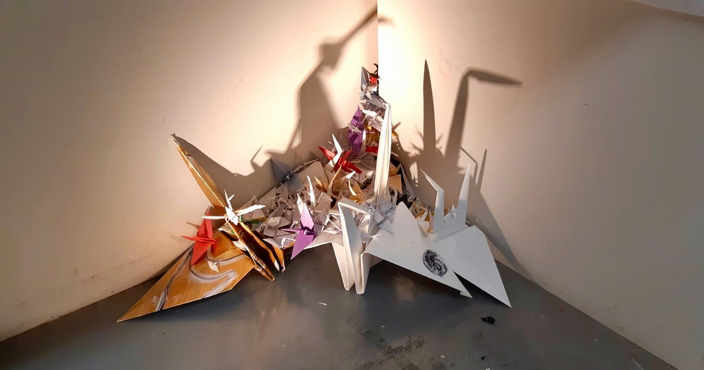 Cranes by Raphael Antonio Iglesias (installation view)