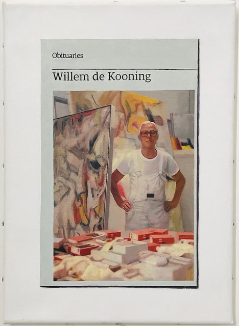 Hugh Mendes, 'Obituary: Willem de Kooning', 2017, Robert Fontaine Gallery