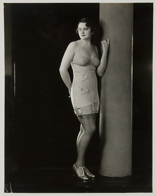 Berlei Ltd, 'Model wearing Berlei girdle and brassiere', ca. 1930, Powerhouse Museum