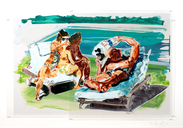 , 'Poolside Loungers,' 2017, William Campbell Contemporary Art, Inc.